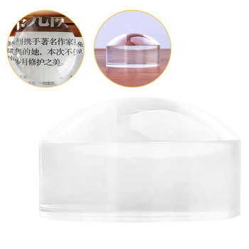 Magnifier 8X 50mm Loupe Crystal Acrylic Magnifying Glass Reading Dome Paperweight Map Magnifying Tool for Reading Magnifiers
