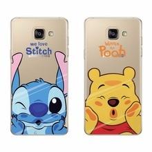 Case Cover For Samsung s5 s6 s7 edge Cartoon Stitch Pooh TPU Silicone Soft Case For Samsung s6 edge s7 edge s5 Funda Capa Coque