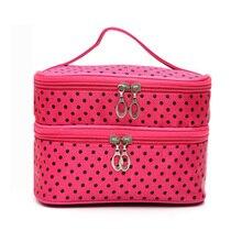 Travel Cosmetic Bag Organizer Waterproof Women Wash Beautician Vanity Necessaire Fashion Makeup Bag Case Box Handbag