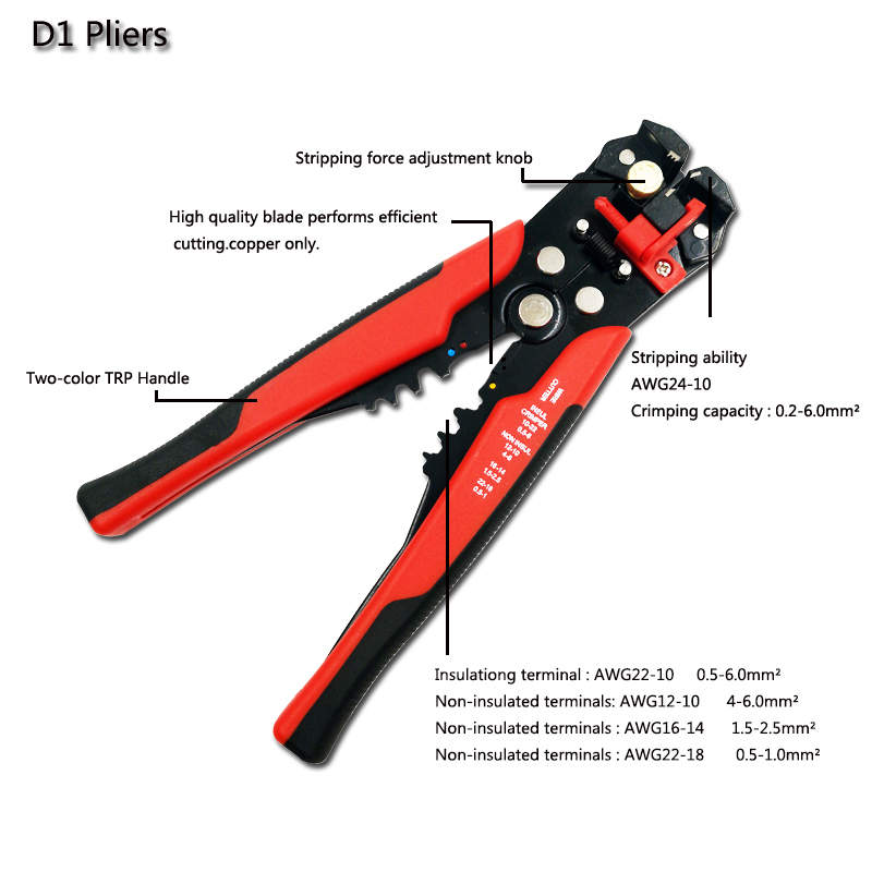 Image 4 - Photovoltaic Solar MC4 Connector crimping plier set2.5 6.0mm2 AWG14 10 electrician multifunction Wire Stripper hand tools-in Pliers from Tools