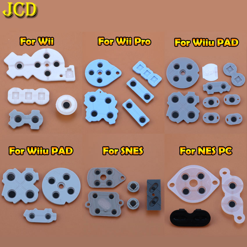 JCD 1Set For Nintend Wii / WIIU PAD / WII PRO For SNES SFC / NES PC Console Conductive Rubber Silicone Pads Buttons