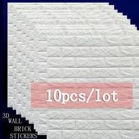 10pcs 70X77cm diy Self Adhesive 3D brick Wall Stickers bedroom Tile Floor Furniture kids sticker covering Wallpaper Background