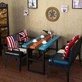 Диван с кресла и обеденный стол для гостиной мебели hotel restaurant Американских ретро творческий стиль