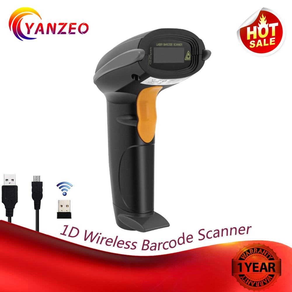 Yanzeo Black W6811 Recognition Printing Wireless 2.4G Handheld USB 1D Laser Portable Reader Barcode Scanner