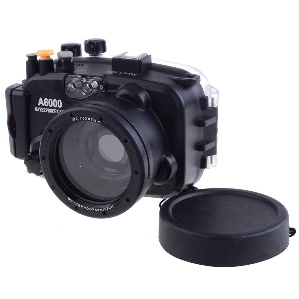 Ready Stock For Sony A6000 16 50mm Lens Meikon 40M 130ft Waterproof Underwater Housing Case Cover