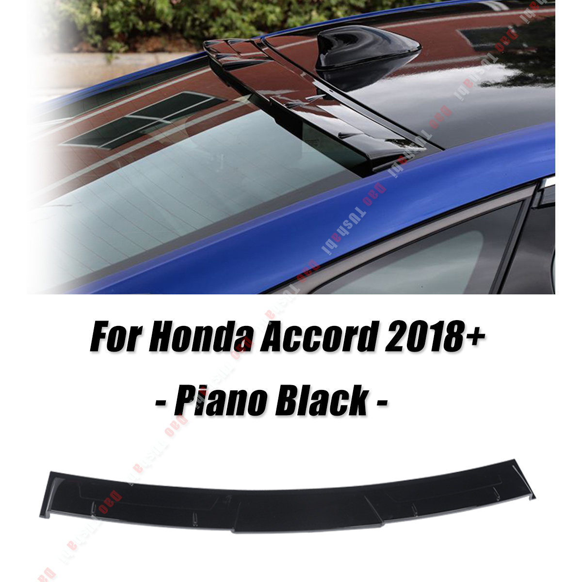 Piano Black For Honda For Accord 10th 2018 ABS Rear Window Visor Roof Spoiler Wings Auto PartPiano Black For Honda For Accord 10th 2018 ABS Rear Window Visor Roof Spoiler Wings Auto Part