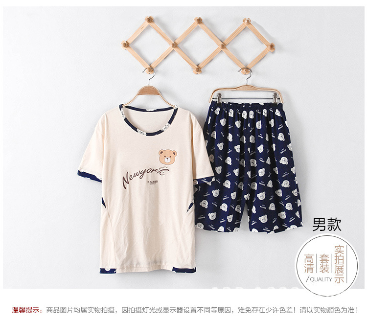 9b1aded05e1 Pajamas Women Summer Shortsleeve Nightgown Cotton Little Bear ...