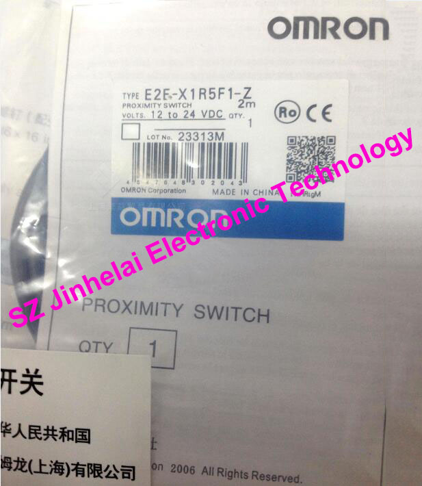 100% New and original E2E-X1R5F1, E2E-X1R5F1-Z  OMRON  Proximity switch, Proximity sensor  12-24VDC   2M [zob] new original omron shanghai omron proximity switch e2e x18me1 2m 2pcs lot