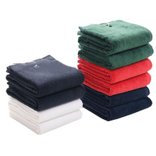 Golf Towel 1pcs 100% Cotton Size 40X60cm with metal hook washcloth Golf accessories