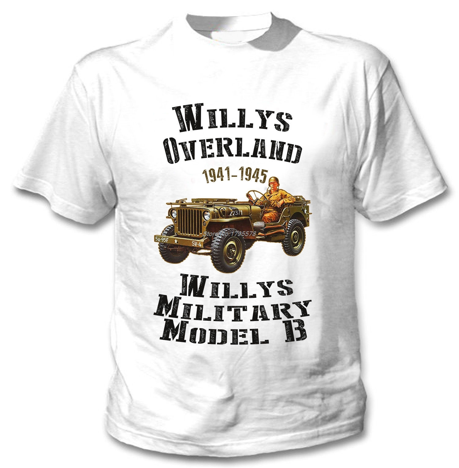 New Fashion Funny T Shirt Willy Usa Wwii Men Cotton Short 1941 Dodge Tow Truck If You Are Not Sure About Your Size Please Contact Us For The Suggestions