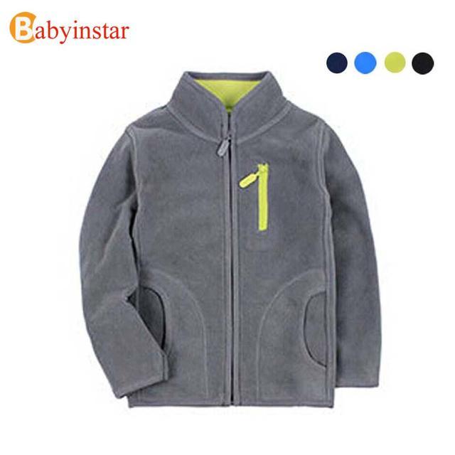 CALIDAD 4-12 Años Niños Y Niñas de Primavera Capa de la Rebeca Del Cabrito Chaqueta de Traje de Color Puro Niños Clothings Niños Fleece Outwear Jacket