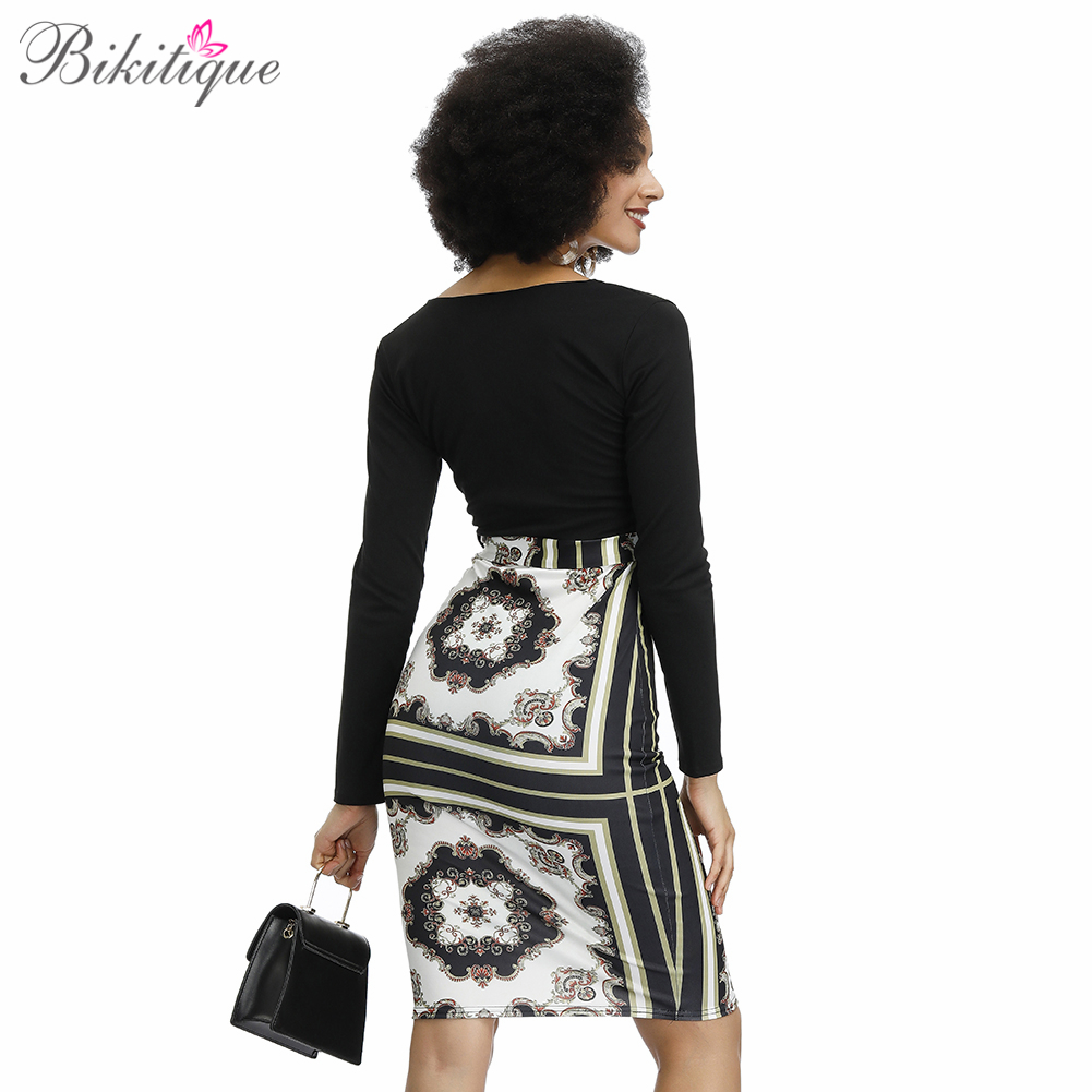 Bikitique Sheath Deep V Neck Mini Dress Women Long Sleeve Modern Lady Night Out Hip Dress Sexy Party Dashiki African Dresses in Dresses from Women 39 s Clothing