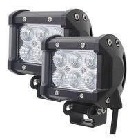 Tomall 18W Cree XB D 1350LM LED 60 Degree Flood Work Light Bar Off Road Car