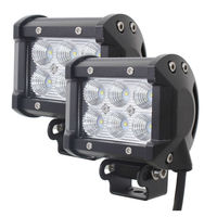 Tomall 18W Cree XB D 1350LM LED 60 Degree Flood Work Light Bar Off Road Car