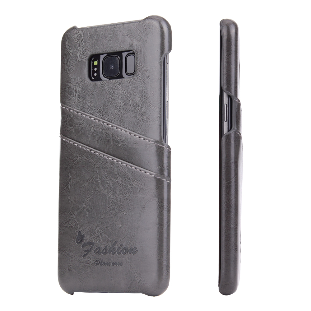 MXHYQ Real Leather Card protection shell oil wax for SAMSUNG galaxy s8 s8 plus Protect the back for Phone Cases