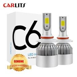 Новые поступления автомобилей свет лампы светодиодный H4 H7 9003 HB2 H11 светодиодный H1 H3 H8 H9 880 9005 9006 H13 9004 9007 авто фары 12 V светодиодный свет