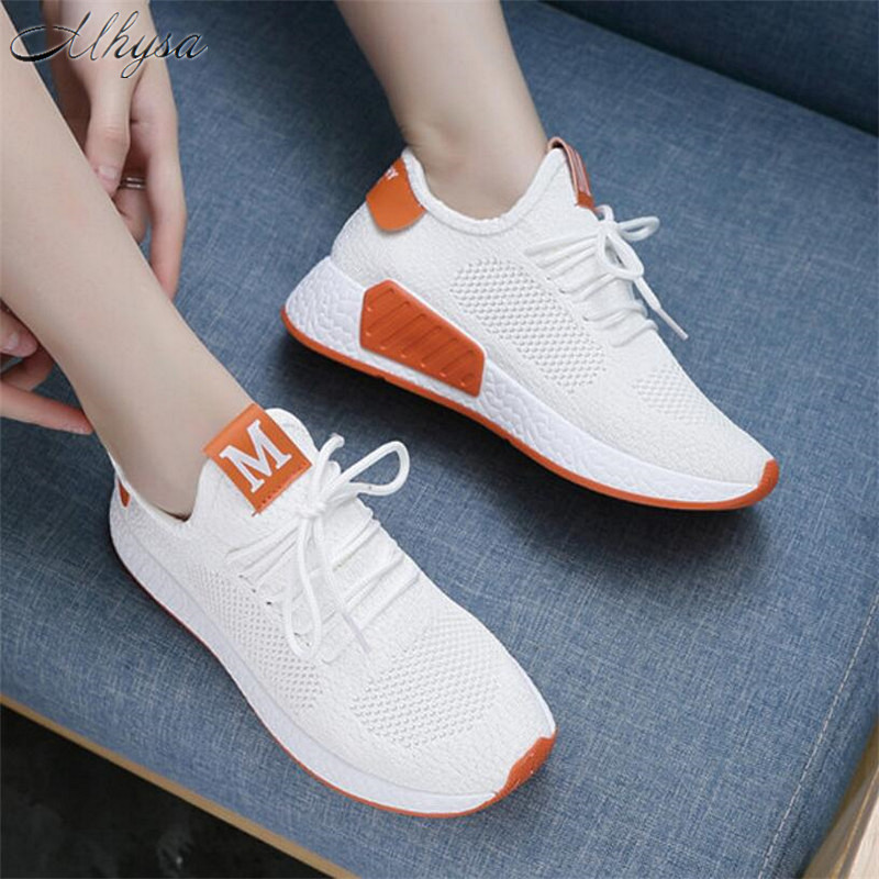 Mhysa 2019 Women Fashion Casual Shoes Woman Comfortable Breathable Mesh Flats Female Platform Sneakers Chaussure Femme T454