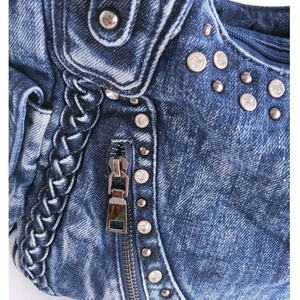 Image 4 - iPinee Brand Women Bag 2020 Fashion Denim Handbags Female Jeans Shoulder Bags Weave Design Women Tote Bag