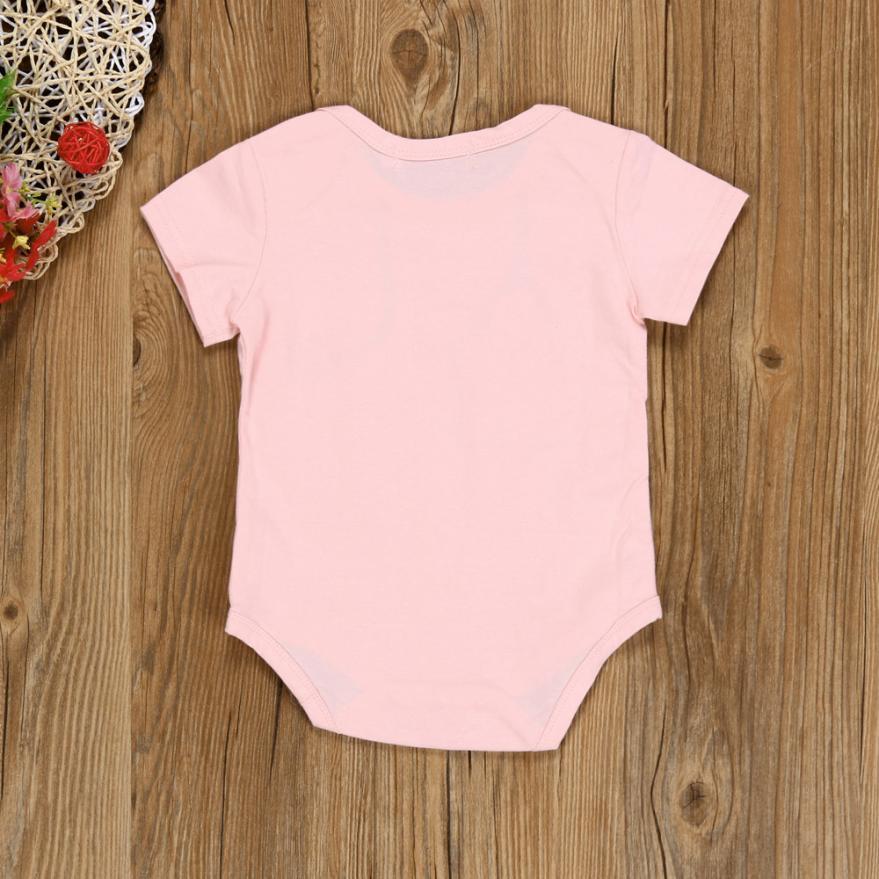 2017 fashion baby bodysuit printed kids baby girl short sleeve cotton little doctors tool bodysuit sunsuit infantil menina 0-12M