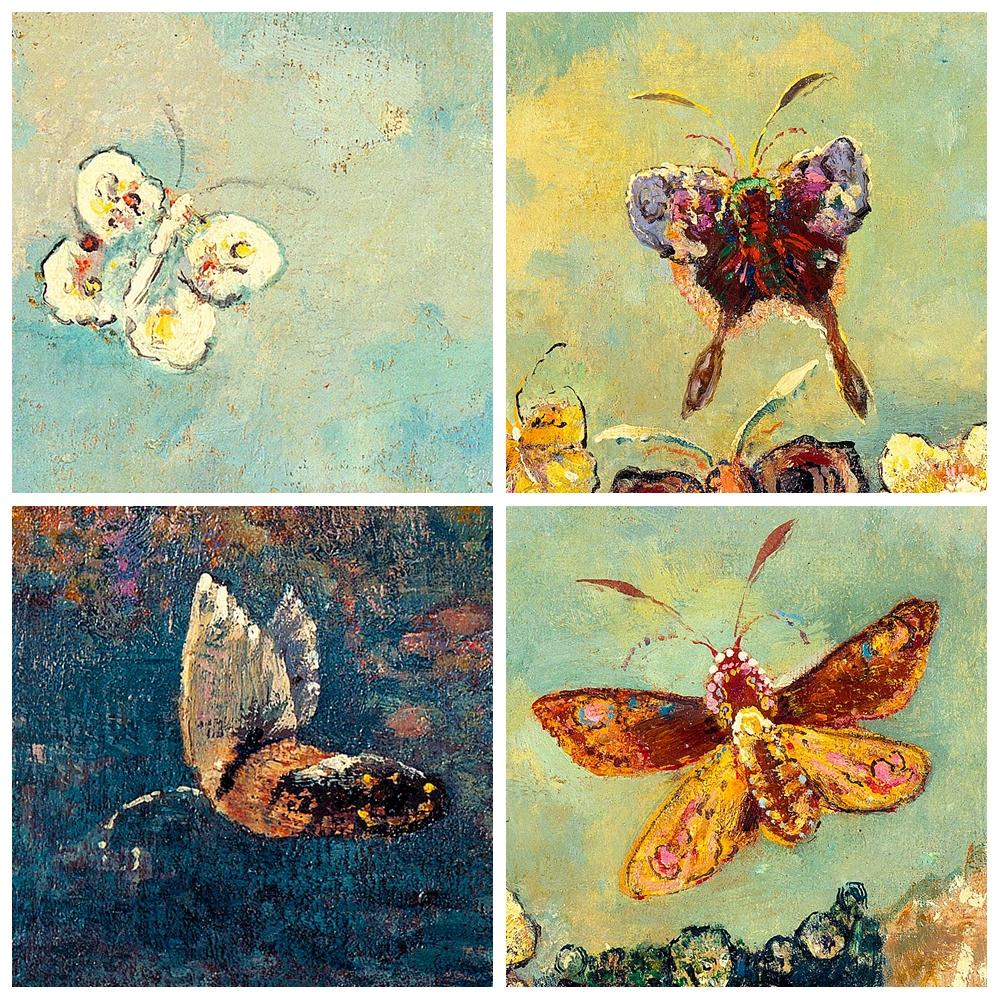 Fine Blue Butterfly Wall Art Model - All About Wallart - adelgazare.info