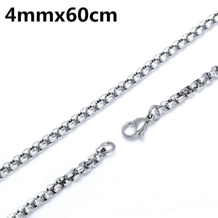 Nigdy nie znikną 316 ze stali nierdzewnej T łańcuch kwiatowy mężczyźni naszyjnik biżuteria Man urok wisiorek naszyjnik dla mężczyzn akcesoria