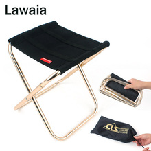 Lawaia Fishing Chair Outdoor Camping Aluminum Fishing Chair Portable Train Bench Camping Mazar Barbecue Stool Folding Stool Tool outdoor portable fishing chair aluminum alloy with oxford cloth fishing camping barbecue picnic folding chair stool