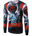 New Arrival Men Printing T shirt Long Sleeve Bloody 3D designPattern casual tshirts Hot Sale sweatshirt for man14T58