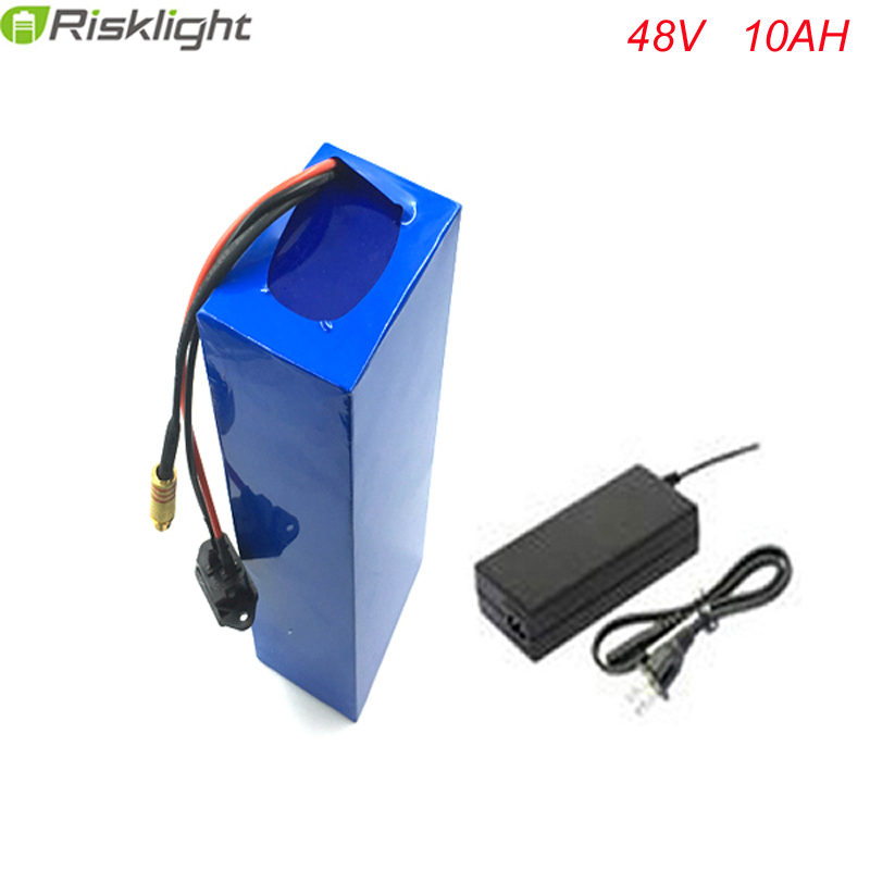 Free Customs taxes Rechargeable lithium battery 48v 10ah Electric Bike Battery 48V 10Ah 750W  li-ion battery pack with  charger free shipping 12v 40ah lithium battery ion pack rechargeable for laptop power bank 12v ups cell electric bike 3a charger