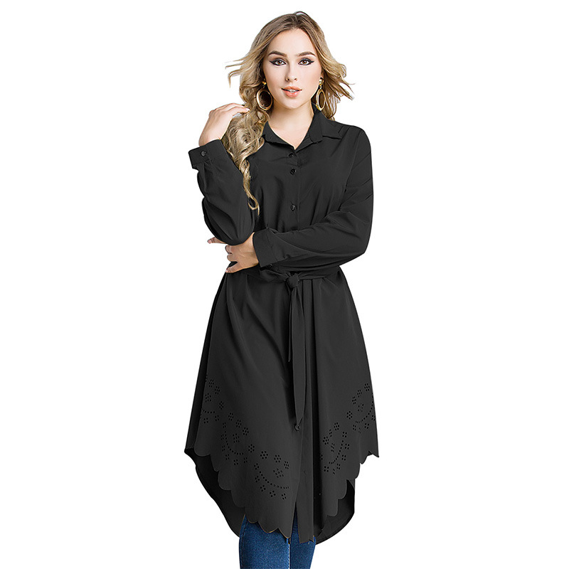 Arabic Women Dress Loose Belted Robe Femme Islamic Clothing Cardigan Malaysia Turkish Pakistani Fashion  Plus Size Muslim Dress (1)