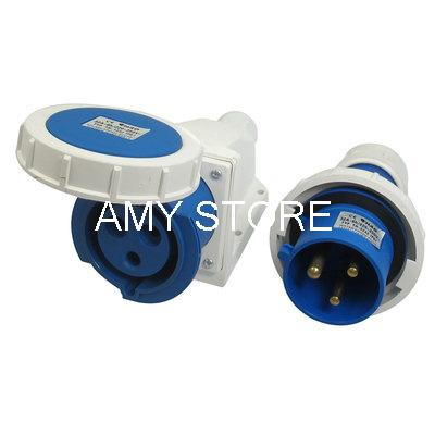 цена на 32A Splash Proof IP67 2P+E IEC309-2 Free Hanging Industrial Socket