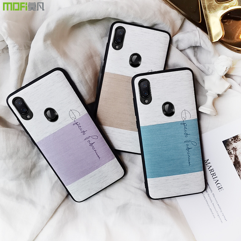 Для Xiaomi redmi note 7 global case нескользящая Мягкая сенсорная крышка MOFi Оригинальная защитная задняя крышка redmi note 7 pro тканевые чехлы