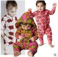 Ins hot style autumn new newborn baby infant children's wear cotton fries even climb clothes jumpsuit suit