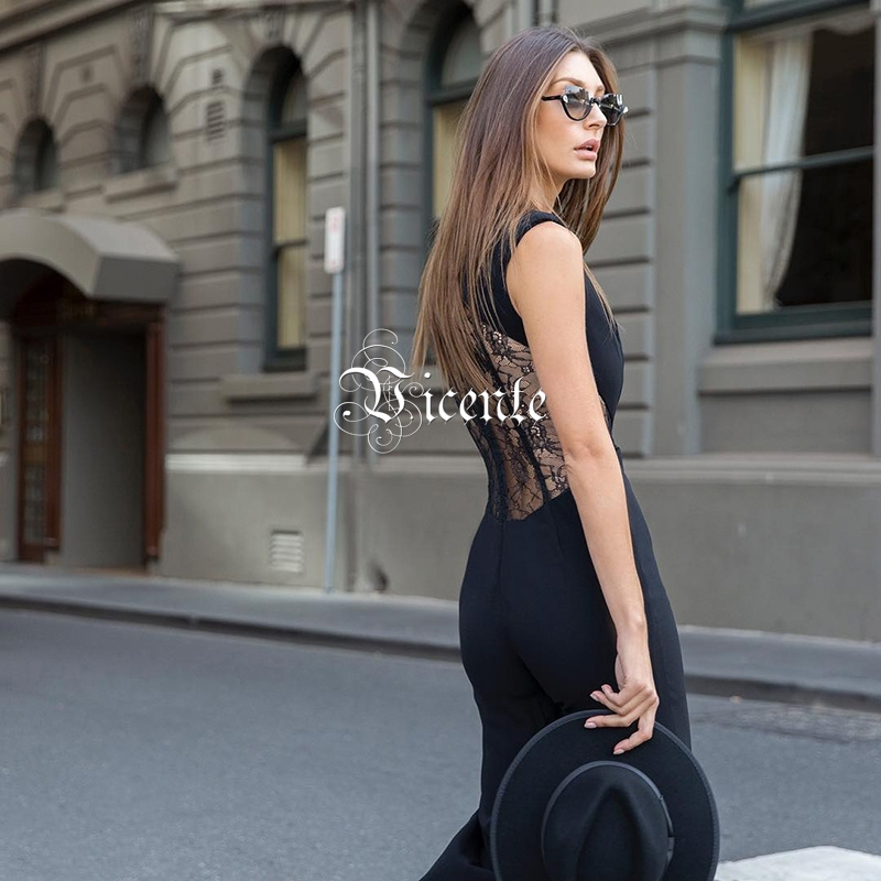 Mode Retour Gros Cloche Combinaison Pour Multi 2019 Gracful Femmes Sans Nouvelle Vicente bas Manches Party Chaude Sexy Celebrity Dentelle Xvg6qctx