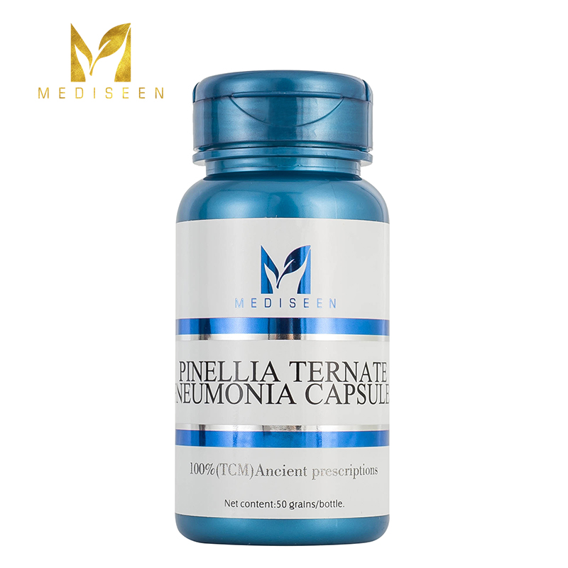 Mediseen Pinellia Ternate Pneumonia Capsules, Cure Pneumonia, Cure Hemoptysis, Effective For Excessive Phlegm And Cough, 50pcs