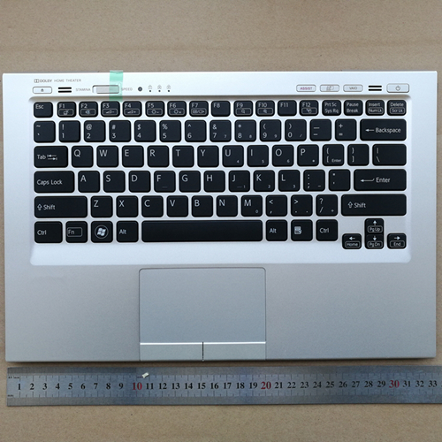US new laptop keyboard with touchpad palmrest for Sony Vaio VPCSC Series 024-0USA-8100-E VPCSC1AFM VPCSC31FM VPCSC41FM VPCSC4AFM new for sony vgn fj series laptop us keyboard 147951221 black