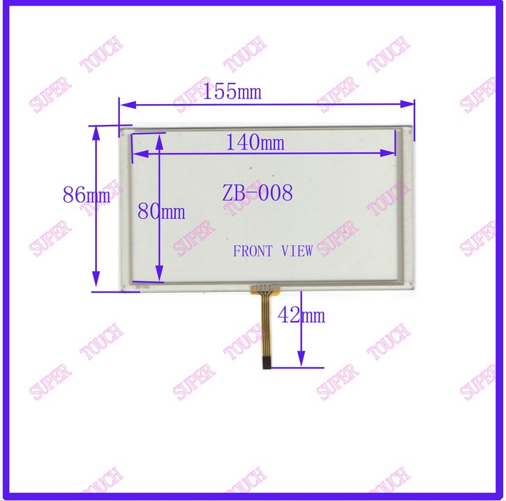 ZhiYuSun HLD-TP-2113 Compatible 6.2 Inch 4-wire Resistive  Compatible Navigator  TOUCH SCREEN