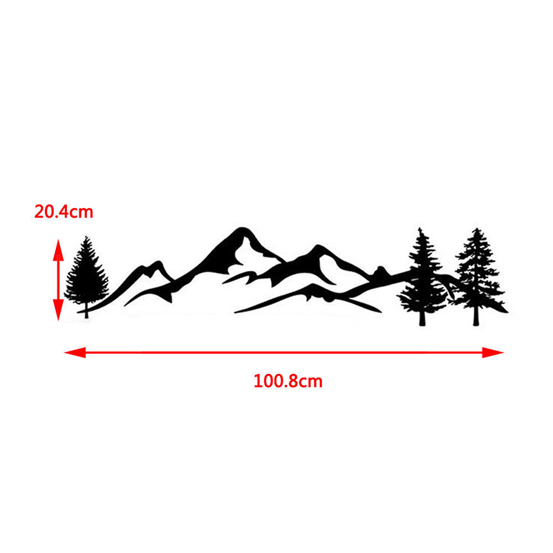 Image 3 - 100cm Universal For Tree Decal Mountain Scene Large Northwest car Sticker Vinyl Truck RV Toy Hauler Vehicle Car Accessories-in Car Stickers from Automobiles & Motorcycles