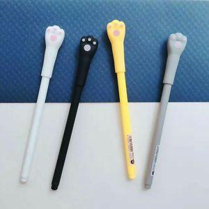 Image 2 - 48 pcs Gel Pens Cartoon cat black colored kawaii gift gel ink pens pens for writing Cute stationery office school supplies