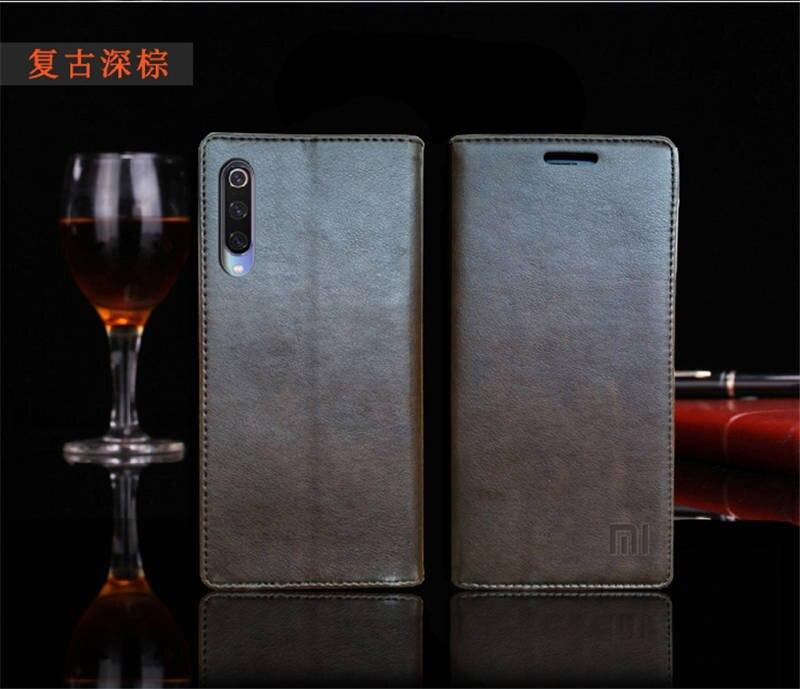 for Xiaomi Mi 9 Case Luxury Genuine Leather Flip Case for Xiaomi Mi 9 Magnetic Book Wallet Cover for Xaiomi mi9 Phone Coque Case15