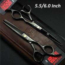 Japan KASHO Professional Hairdressing Scissors Hair Cutting Scissors Set Barber Shears Tijeras Pelo High Quality Salon5.5/ 6inch