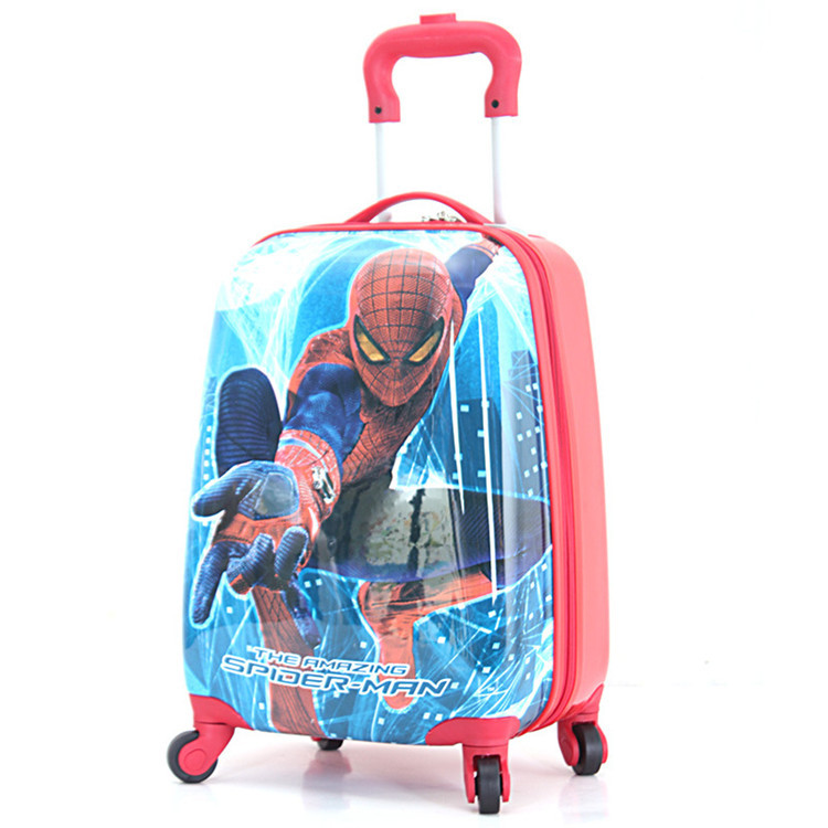18'' Boys Doraemon Rolling Luggage/Kids ABS Spiderman Print ...