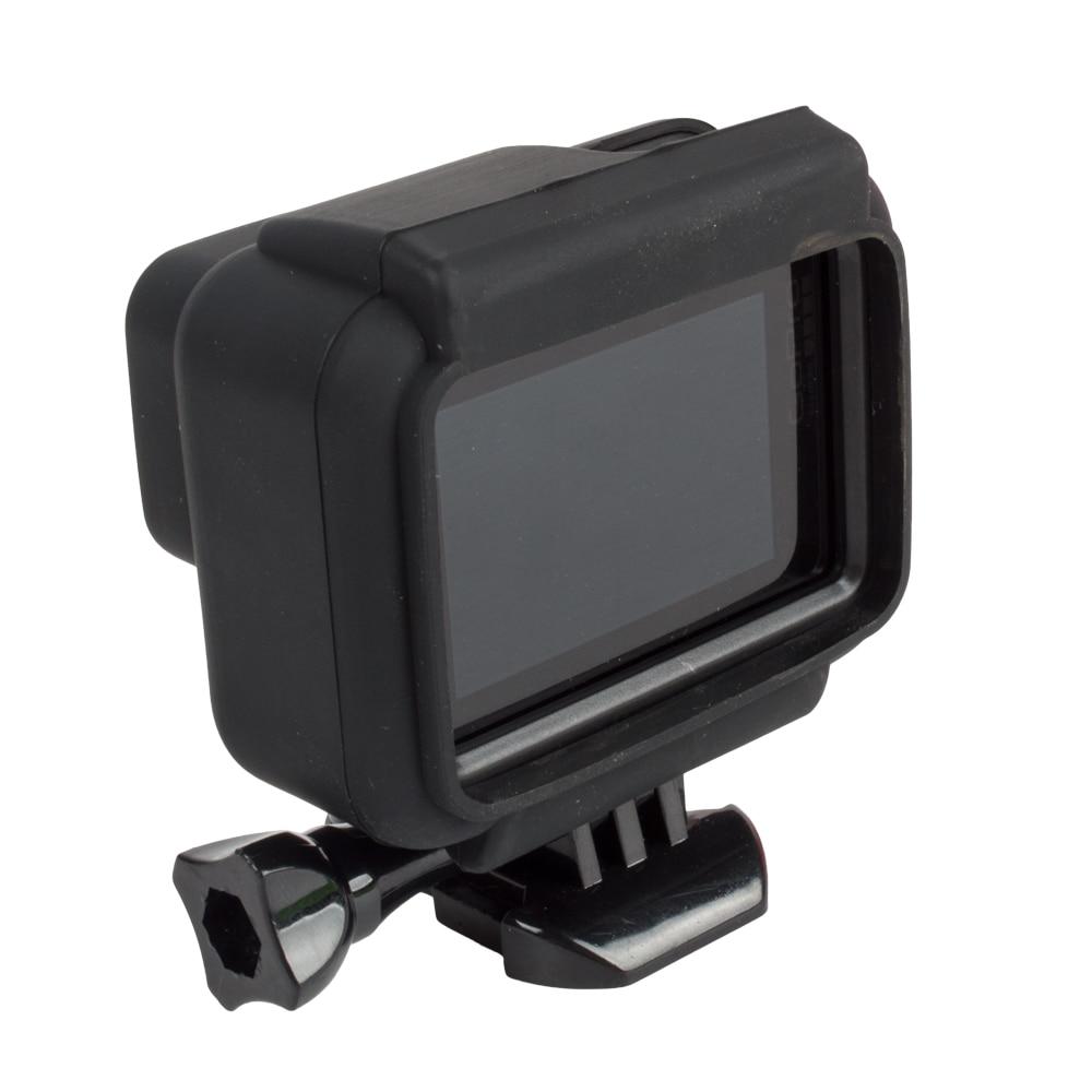 87e73162b6cd2 Shock-proof Capa Protetora Capa De Silicone Preta com moldura para Go Pro  Hero 5 6 Action Camera