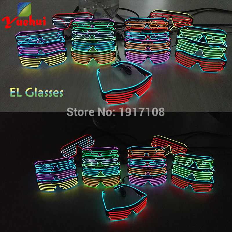 Новый 17 Стиль Многоцветный свет до EL Провода затвора Очки led neon light Очки по dc-3v устойчивый на драйвер для украшение партии