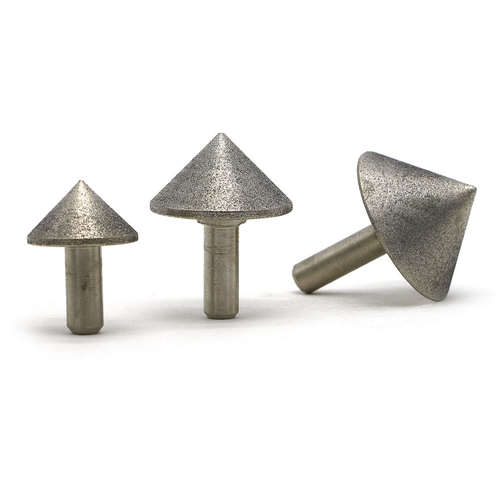 5pcs Diamond mounted point grinding head rough and fine grit grinding head shank diameter 6mm MT070 DZ in Abrasive Tools from Tools