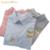 2016 nova mulheres Esquilo bordado tarja blusas mulher faculdade raposa gola costura longo-sleeved algodão topos camisa feminina