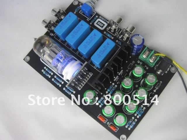 HIFI 6N11 Stereo Tube Buffer preamplifier kit / board Audio preamp DIY