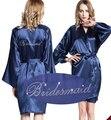 LP004 Da Noiva Do Casamento Da Dama de honra Floral Robe de Cetim Rayon Roupão Camisola Para As Mulheres Kimono Sleepwear Flor Plus Size