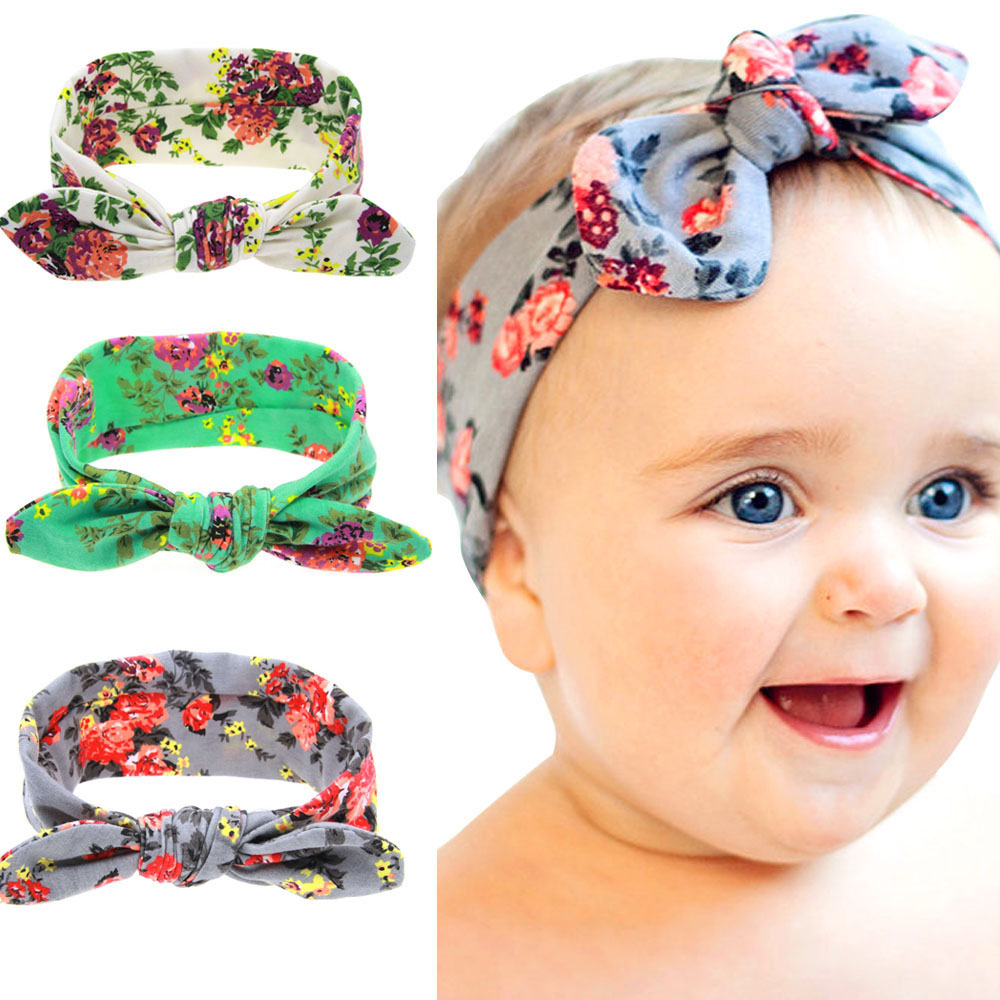 Baby Girls Flower Headband Set Infant St. Patrick's Day Clover Shamrock   Headwear   Gift Children Kids Party Band Hair Accessory