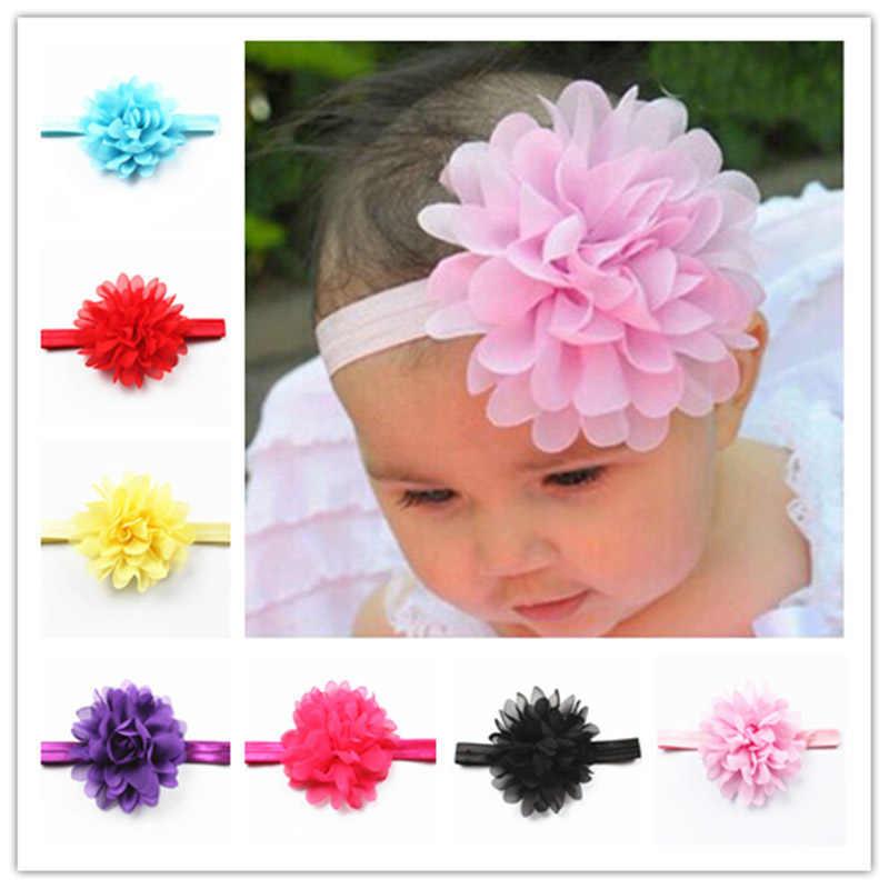 Penjualan Panas Bayi Gadis Elastis Hairband Anak-anak Rambut Memakai untuk Anak-anak Kepala Band Bunga Ikat Kepala Bayi Rambut Aksesoris