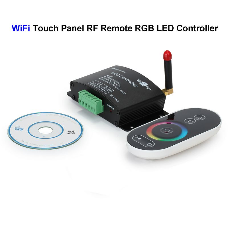 wifi rgb led controller touch panel screen rf remote. Black Bedroom Furniture Sets. Home Design Ideas